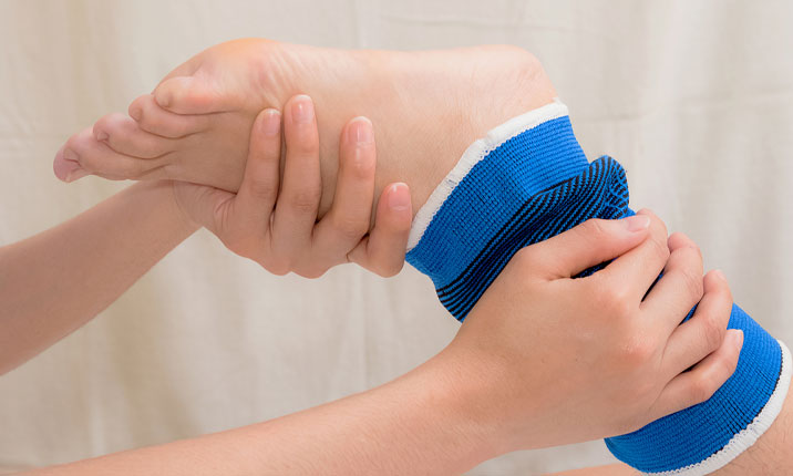 how to mend a sprained ankle