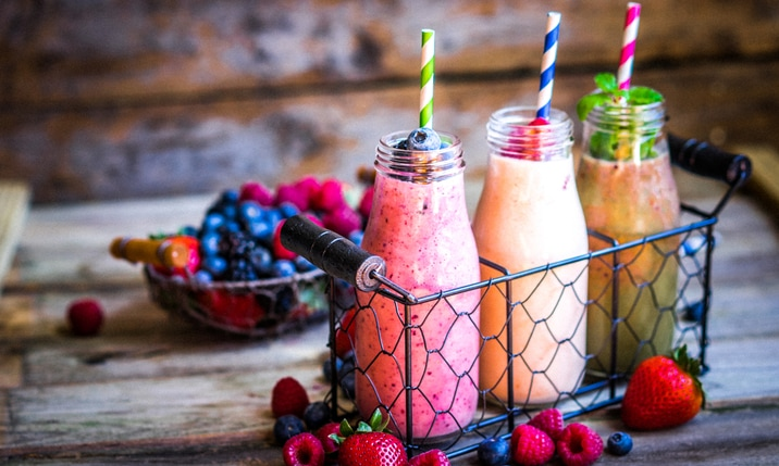 Dietitian snacks smoothie