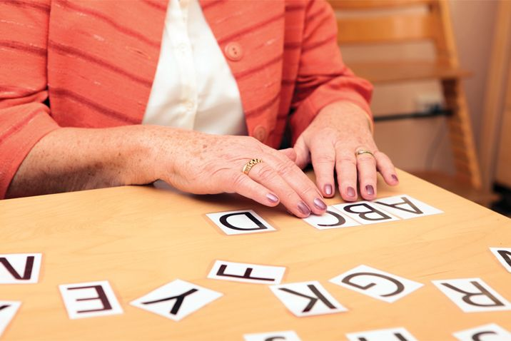 Patient undergoing therapy for language impairment