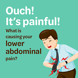 What is causing your lower abdominal pain?