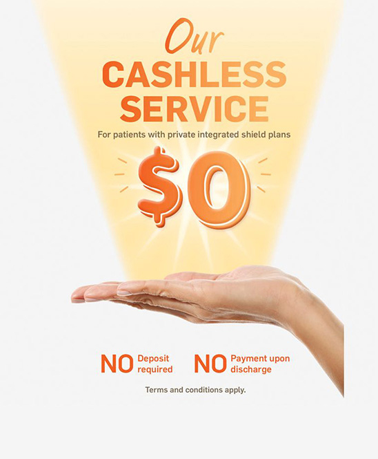 Cashless Service|Parkway East Hospital