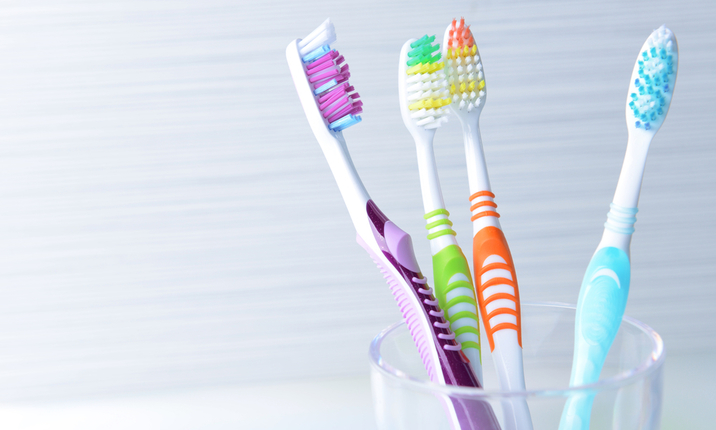 Toothbrushes cup