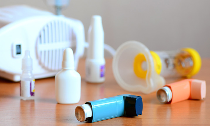 Treatment of an asthma attack